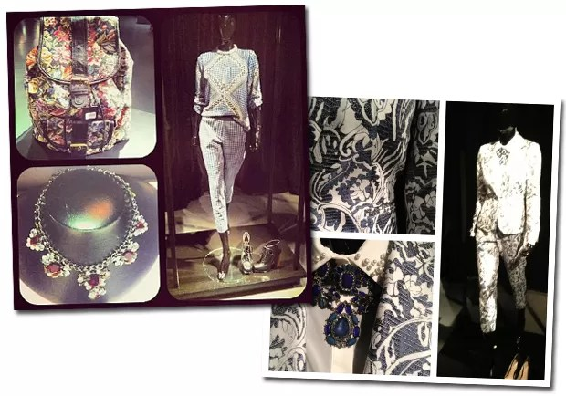 Os conjuntos superestampados tanto em seda quanto em jacquard foram destaque da coleção  (Foto: Reprodução/Instagram)