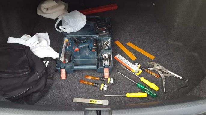Polícia Civil apreendeu ferramentas utilizadas para roubar agências bancárias com alvo de operação — Foto: Polícia Civil/Divulgação