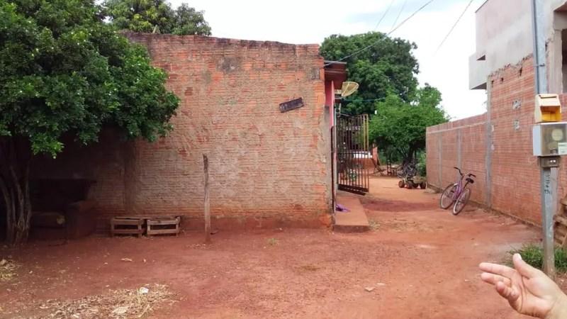Residência em jovem matou adolescente usando uma coleira de cachorro, em Sidrolândia (MS). — Foto: Divulgação/Polícia Civil
