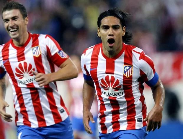 Falcao García comemora gol do Atlético de Madri (Foto: EFE)
