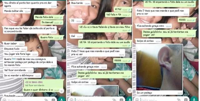 Família recebe mensagem falsa sobre desparecimento de criança de seis anos em MT — Foto: Arquivo pessoal