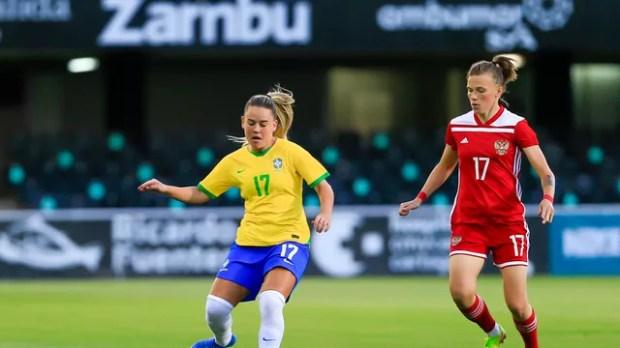 Andressinha conduz o Brasil ao ataque na vitória sobre a Rússia