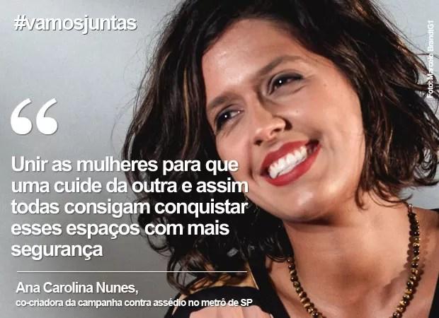 Dia da Mulher: Ana Carolina fala sobre a hashtag #vamosjuntas (Foto: Marcelo Brandt/G1)