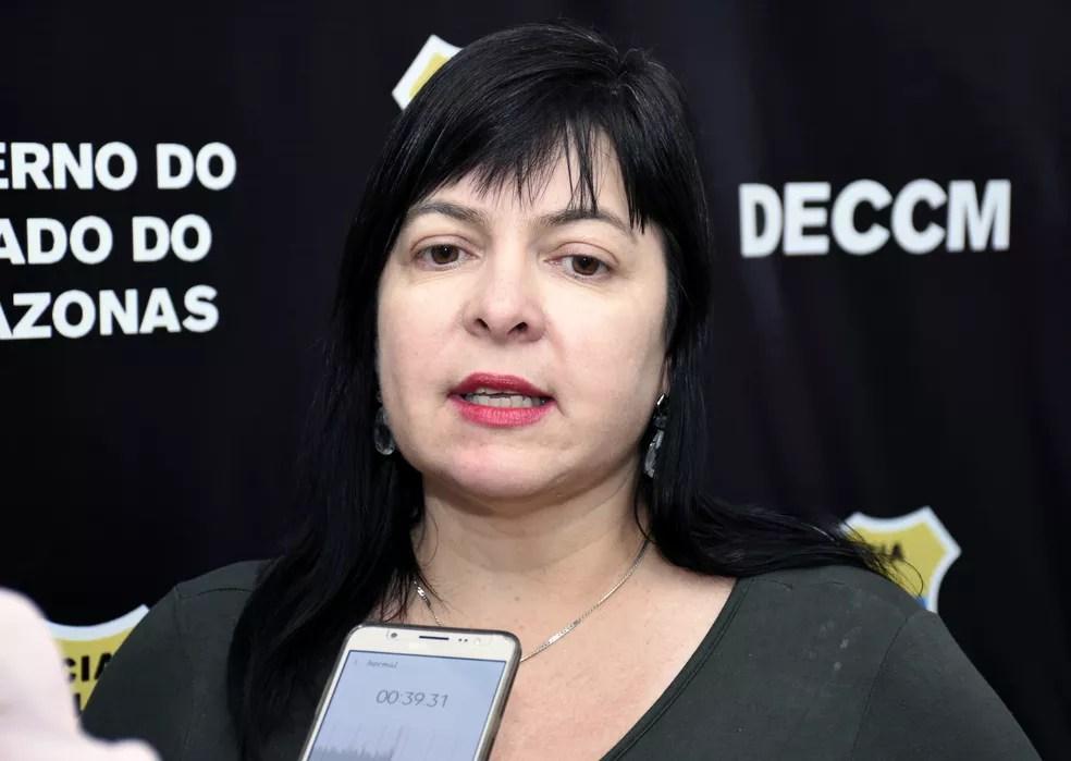 Delegada Débora Mafra, titular da Delegacia Especializada em Crimes Contra a Mulher (DECCM). — Foto: Divulgação/PC-AM