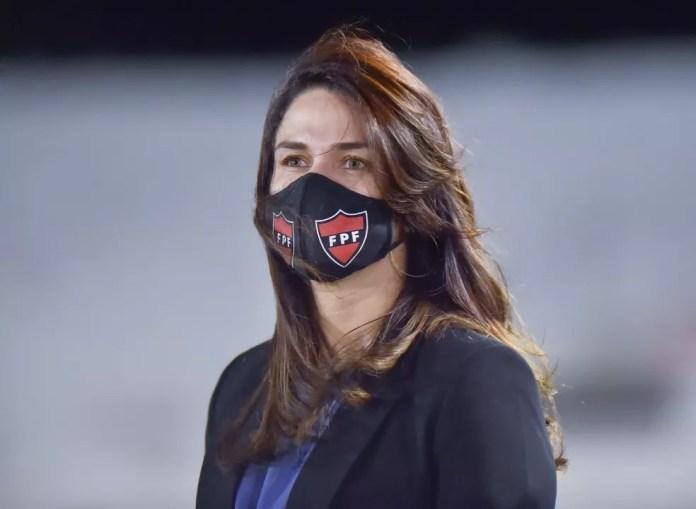 Michelle Ramalho é a presidente da FFP e mulher mais atuante no futebol da Paraíba — Foto: Divulgação / FPF-PB