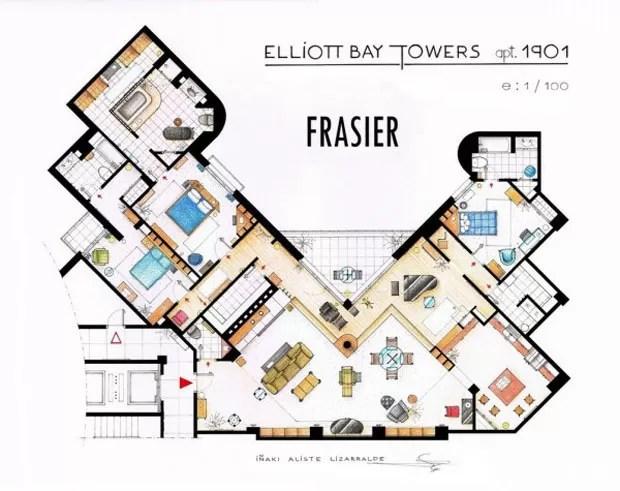 Apartamento de Frasier Crane, da série Frasier (Foto: Nikneuk)