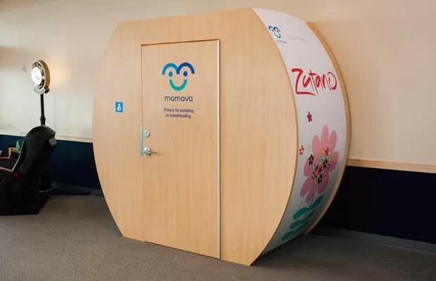 primeira cabine de amamentação é inaugurada em aeroporto de nova iorque (Foto: Reprodução)