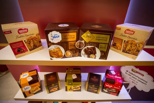 A Nestlé aposta na linha de panetones para serem consumidos aquecidos e mantém os que trazem recheios de marcas consagradas como Alpino e Prestígio — Foto: Fabio Tito/G1
