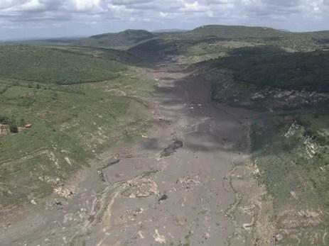 Barragem de Jucazinho enfrenta o pior nível de água de sua história (Foto: Reprodução / TV Globo)