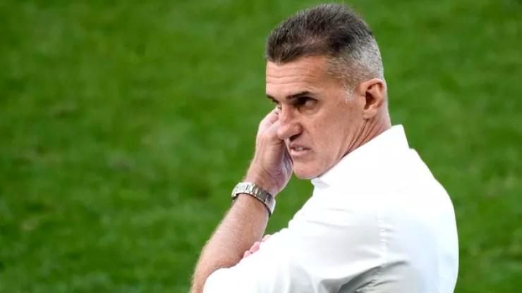 Vagner Mancini, técnico do Corinthians, no jogo contra o Palmeiras