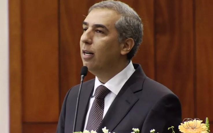 José Eliton (PSDB) é alvo de buscas — Foto: Reprodução/TV Anhanguera