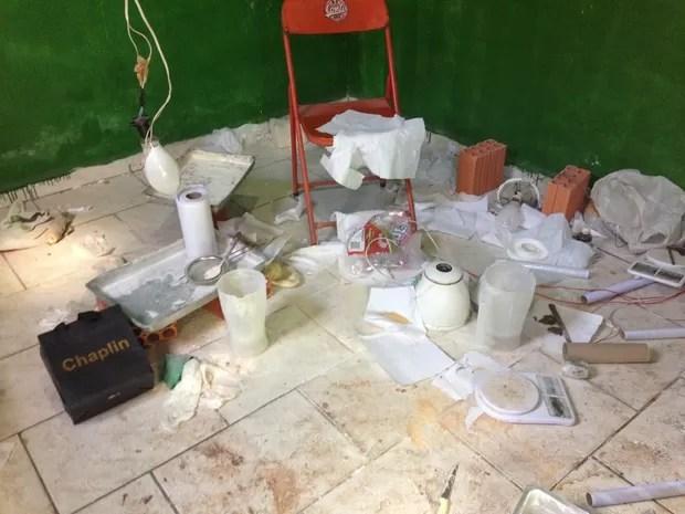 Quadrilha refinava droga em Assis (Foto: Polícia Civil)