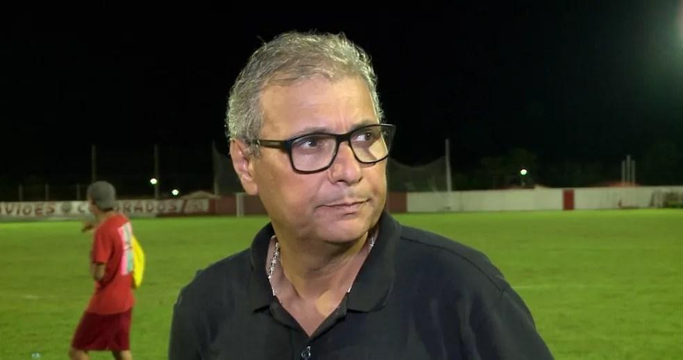 Luís Miguel, técnico do Pinheiro — Foto: Reprodução/TV Clube