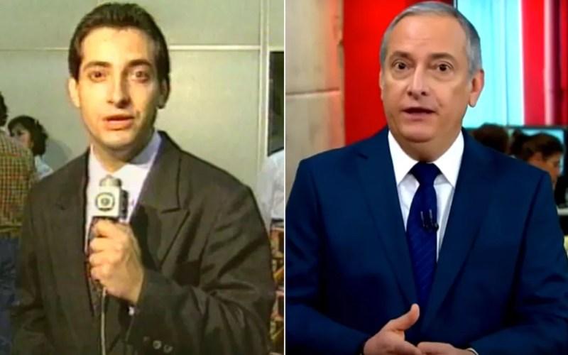 José Roberto Burnier foi repórter de Campinas na década de 90 e atua como apresentador na Globonews, na TV Globo São Paulo. — Foto: Arte/G1