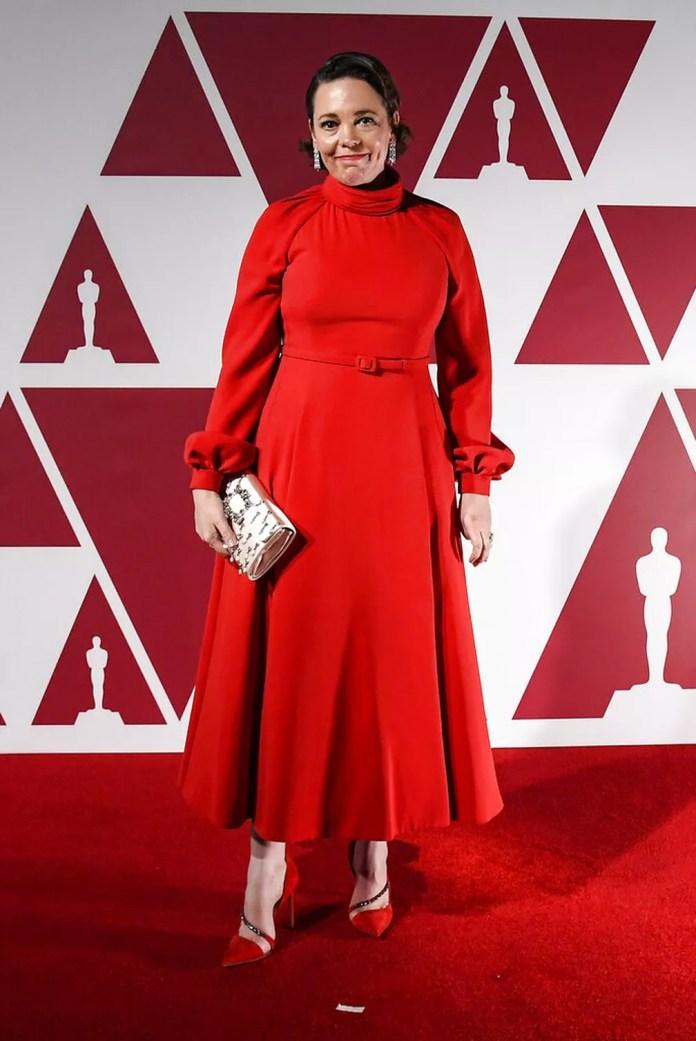 "Olivia Colman, indicada a atriz coadjuvante por ""Meu Pai"",  no Oscar 2021 — Foto: AP Photo/Alberto Pezzali"