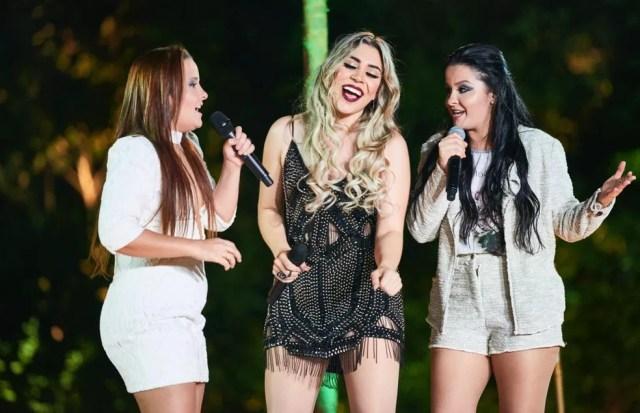 Naiara Azevedo canta com Maiara e Maraisa o hit '50 reais' (Foto: Divulgação)