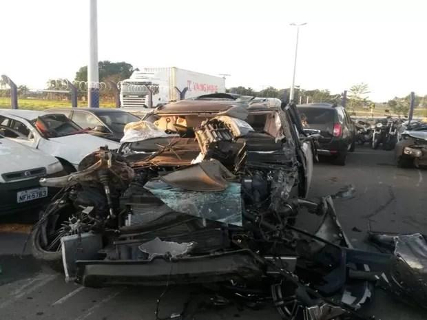 Cristiano Araújo sofre acidente na BR-153 Goiás (Foto: Renato Melo/Arquivo Pessoal)