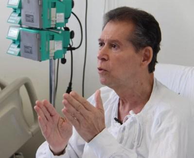 Vamberto, 62, é funcionário público aposentado de BH e sofria de um linfoma terminal — Foto: Hugo Caldato/Hemocentro RP/Divulgação