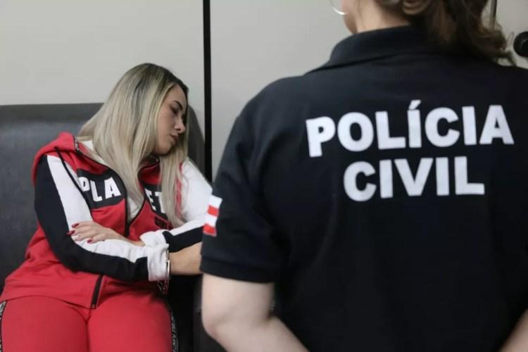 Jasiane chegou na capital baiana sob forte esquema de segurança — Foto: Alberto Maraux/SSP