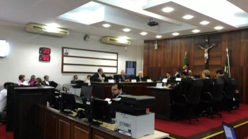 Desembargadores em sessão do pleno do TRE do Rio Grande do Norte (Foto: Fernanda Zauli/G1)
