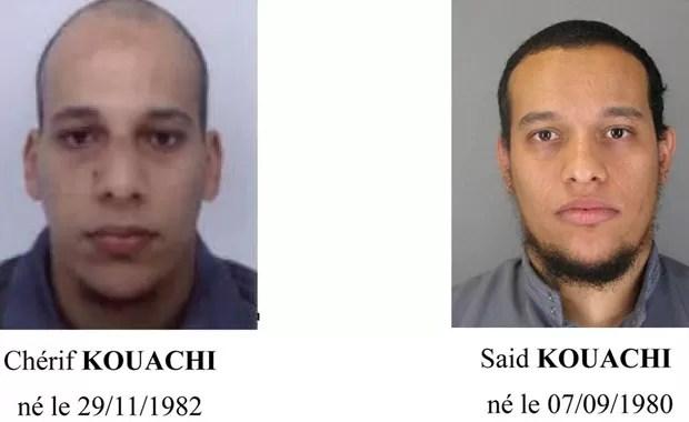 Chérif Kouachi e Said Kouachi, suspeitos do ataque à revista 'Charlie Hebdo'  (Foto: Reuters)