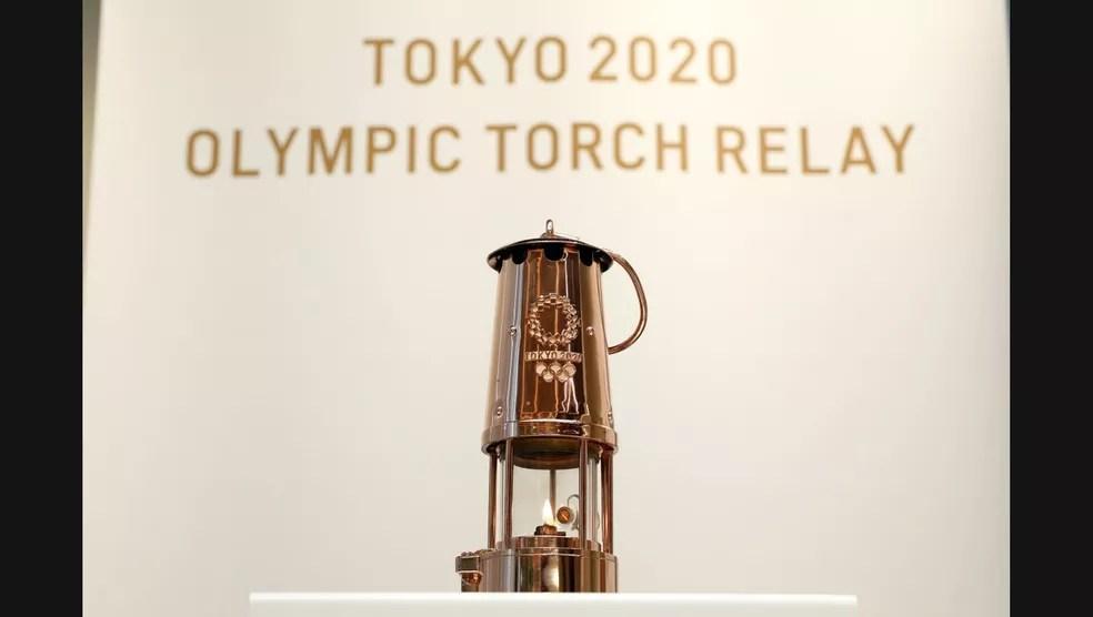 Chama olímpica está guardada em local secreto — Foto: Divulgação Tokyo 2020
