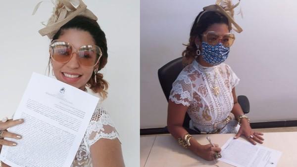 Empresária faz ensaio de fotos para celebrar divórcio no Maranhão — Foto: Arquivo Pessoal