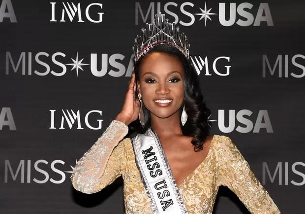 Deshauna Barber, Miss EUA (Foto: Ethan Miller/ Getty Images North America/ AFP)