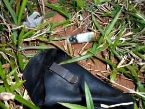 índios encontraram munições deflagradas no local (Foto: Divulgação/ Conselho Aty Guassu)