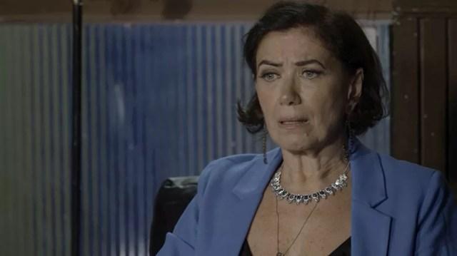 Valentina (Lilia Cabral) descobre por que Egídio (Antonio Calloni) a abandonou no altar anos atrás em 'O Sétimo Guardião' — Foto: TV Globo