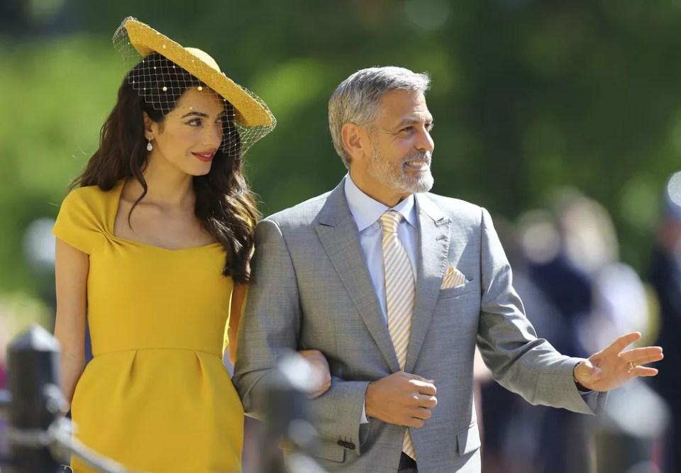 Amal Alamuddin e George Clooney chegam para o casamento real (Foto: Gareth Fuller/pool photo via AP)