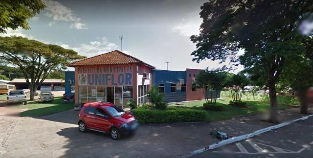 Prefeitura Municipal de Uniflor  — Foto: Reprodução/Street View