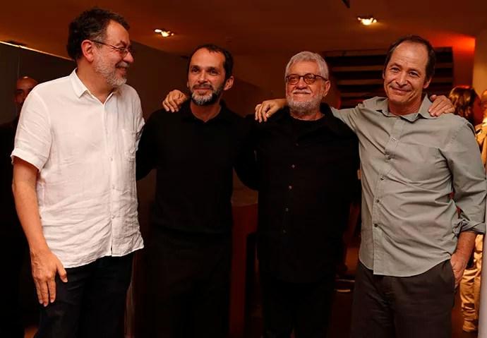 Jorge Furtado, José Luiz Villamarim, Walter Carvalho e Guel Arraes posam juntos (Foto: Ellen Soares/Gshow)