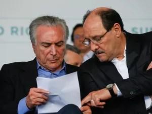 Governador do Rio Grande do Sul, José Ivo Sartori, presidente Michel Temer, evento, Esteio, segurança pública, presídios federais (Foto: Beto Barata/PR)