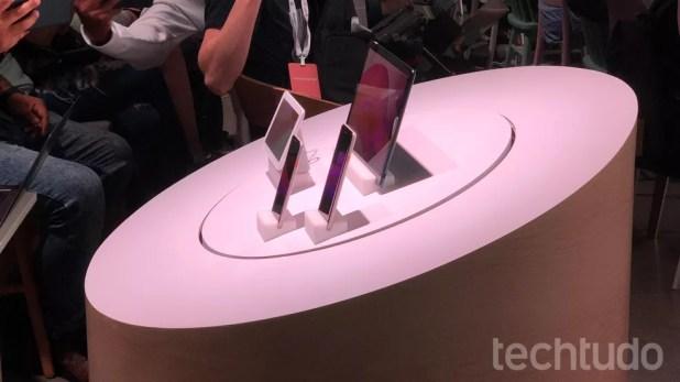 Novos Pixel 3 e 3 XL foram apresentados ao lado de outros dispositivos do Google — Foto: Thássius Veloso/TechTudo