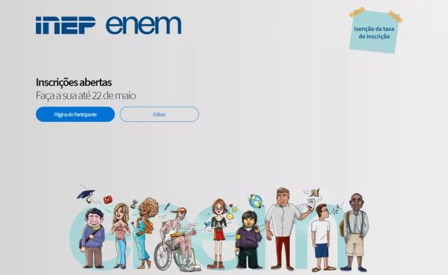 Vagas para o Enem digital estão esgotadas na Bahia — Foto: Reprodução