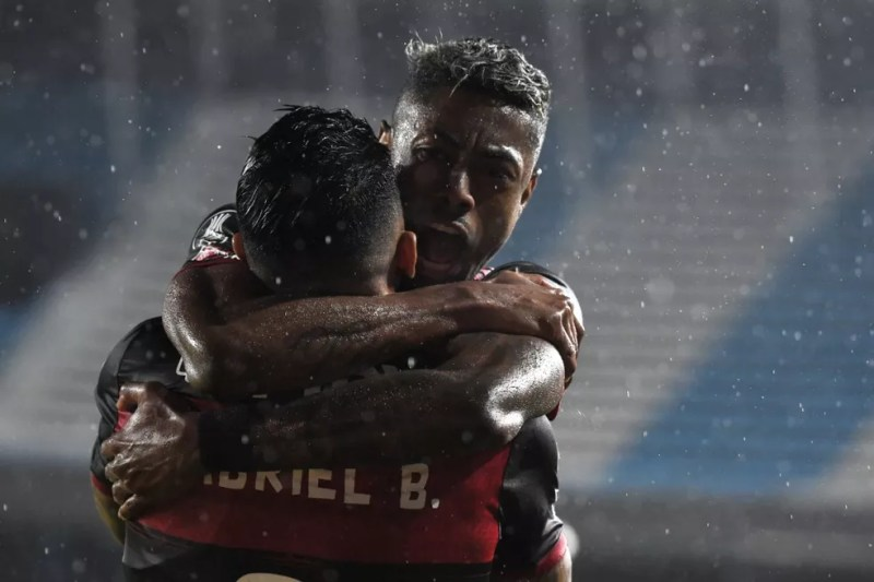 Bruno Henrique Gabigol Racing x Flamengo — Foto: Staff images /CONMEBOL