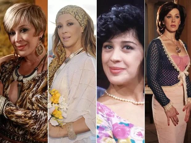 Claudia Raia em diferentes momentos na TV (Foto: Fábio Rocha / Gshow / Alex Carvalho / CEDOC / Márcio de Souza / TV Globo)