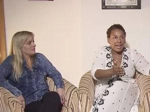 Esposa e Irmã de Edinho não entendem motivo da prisão do ex-goleiro (Foto: Reprodução/TV Tribuna)