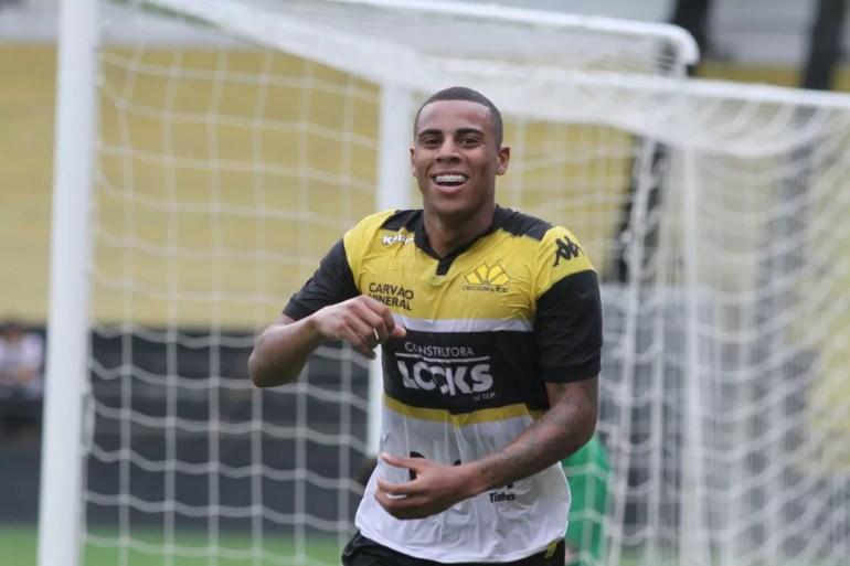 Gustavo marcou 18 gols em 32 partidas pelo Criciúma — Foto: Fernando Ribeiro/Criciúma EC