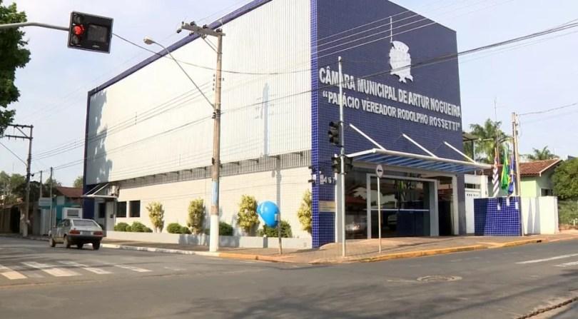A Câmara dos Vereadores de Artur Nogueira (Foto: Reprodução / EPTV)