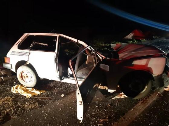 Acidente aconteceu por volta das 18h20 no quilômetro 216 da BR-153 em Marília — Foto: Polícia Rodoviária Federal/Divulgação