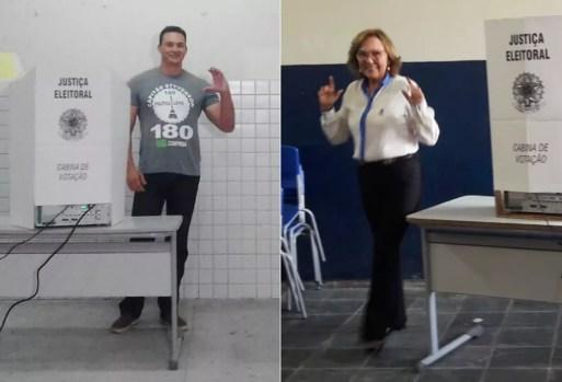 Capitão Styvenson (Rede) e Dra. Zenaide (PHS) foram eleitos senadores pelo RN — Foto: Julianne Barreto e Kléber Teixeira/Inter TV Cabugi