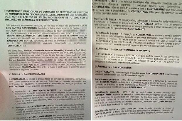 contrato Lucas Nascimento Audax 2 (Foto: Reprodução)