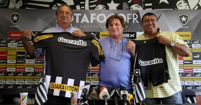 Sergio Landau, Neville Proa e Ayrton Mandarino botafogo (Foto: Vitor Silva / SSPress)