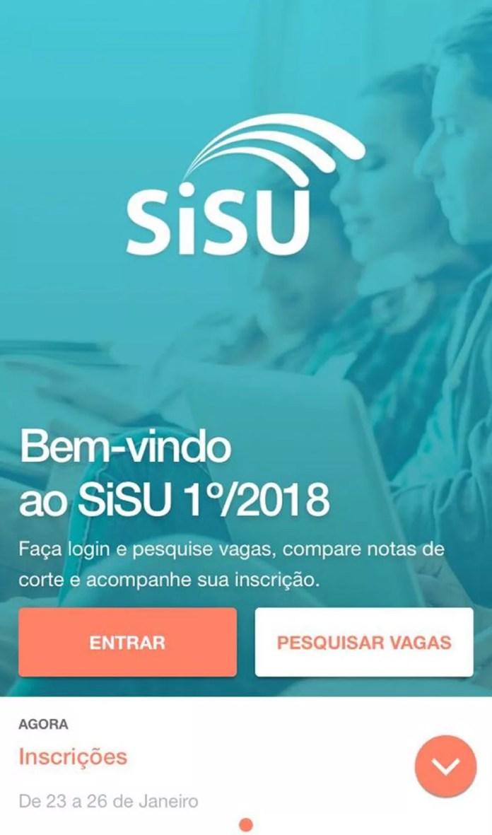 As inscrições no Sisu 2018 podem ser feitas pelo computador ou pelo aplicativo no celular (Foto: Reprodução/MEC)