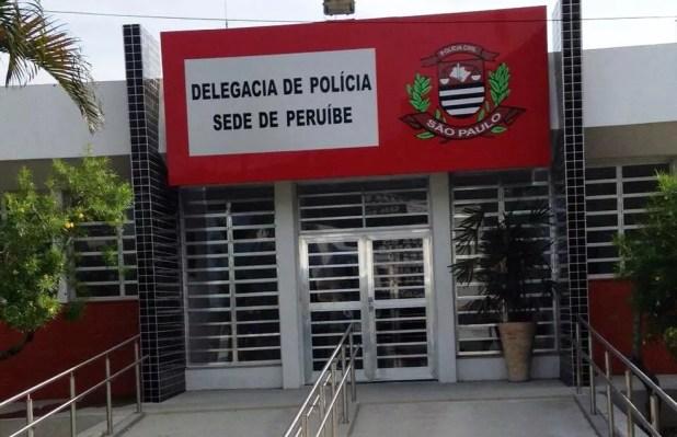 Delegacia Sede de Peruíbe, no litoral de São Paulo (Foto: Cássio Lyra/G1)