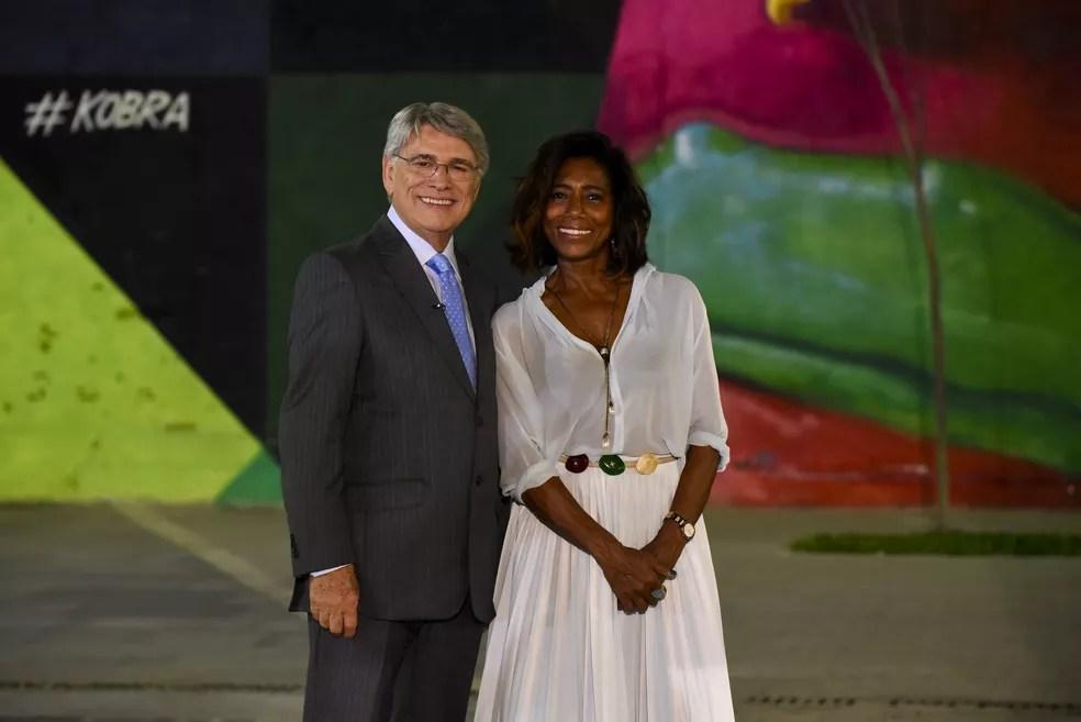 Sérgio Chapelin e Glória Maria relembram os fatos marcantes do ano na Retrospectiva 2017 (Foto: Divulgação/ Globo)