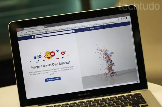 Facebook Friends Day: rede social celebra 13 anos em Aniversário com vídeo de 1 min (Foto: Melissa Cruz / TechTudo)