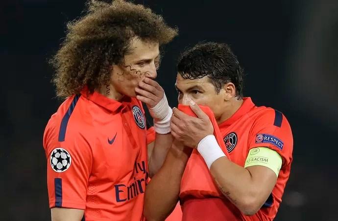 David Luiz y Thiago Silva